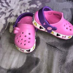 Disney Minnie mouse crocs.